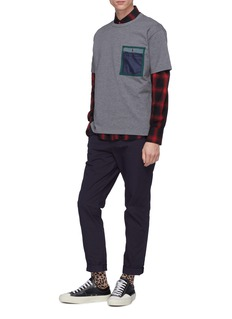 kolor x PORTER contrast chest pocket T-shirt