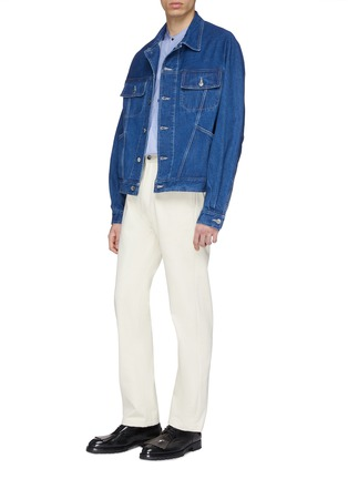 Figure View - Click To Enlarge - E. TAUTZ - Mix pocket denim jacket