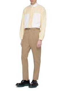 E. Tautz 'Lineman' colourblock patch pocket oversized boxy Oxford shirt