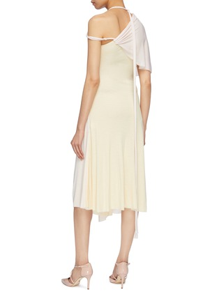 Back View - Click To Enlarge - ESTEBAN CORTAZAR - Gathered drape strappy shoulder jersey dress