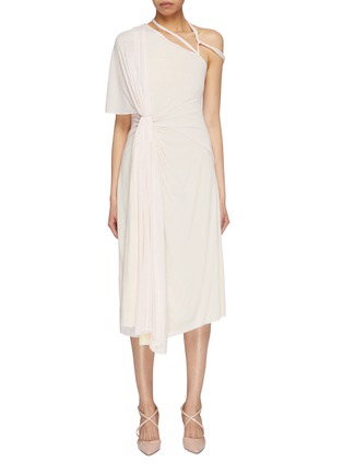 Main View - Click To Enlarge - ESTEBAN CORTAZAR - Gathered drape strappy shoulder jersey dress