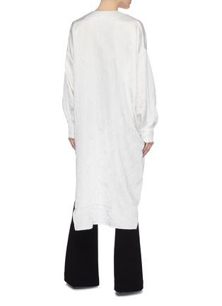 Back View - Click To Enlarge - ESTEBAN CORTAZAR - Wrinkled satin high-low tunic shirt