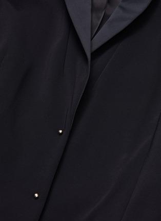 - ESTEBAN CORTAZAR - Sleeve drape cold shoulder tuxedo blazer