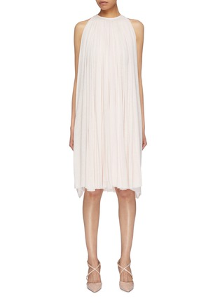 Main View - Click To Enlarge - ESTEBAN CORTAZAR - Pleated jersey sleeveless dress