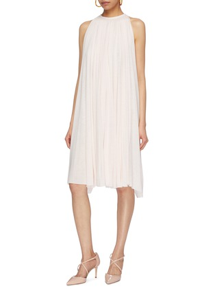 Figure View - Click To Enlarge - ESTEBAN CORTAZAR - Pleated jersey sleeveless dress