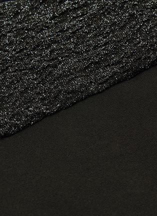- ESTEBAN CORTAZAR - Metallic puff sleeve cutout back mini dress