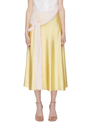 Main View - Click To Enlarge - ESTEBAN CORTAZAR - Knot drape panel satin skirt