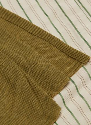 - ESTEBAN CORTAZAR - Sash belted stripe shirt