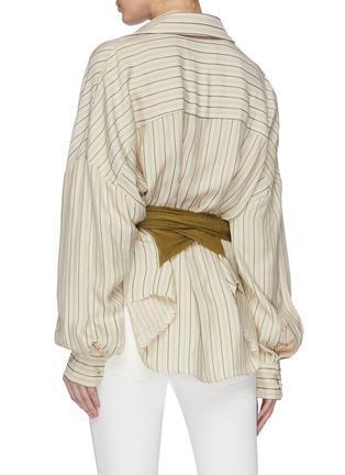 Back View - Click To Enlarge - ESTEBAN CORTAZAR - Sash belted stripe shirt