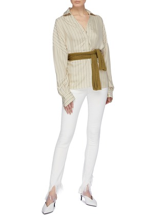 Figure View - Click To Enlarge - ESTEBAN CORTAZAR - Sash belted stripe shirt