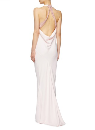 Back View - Click To Enlarge - ESTEBAN CORTAZAR - Open drape back sleeveless gown