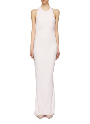 Main View - Click To Enlarge - ESTEBAN CORTAZAR - Open drape back sleeveless gown