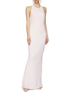 Esteban Cortazar Open drape back sleeveless gown