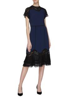 Jonathan Simkhai Guipure lace panel peplum dress