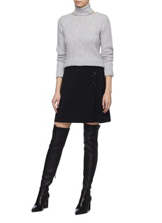 Jonathan Simkhai Cutout turtleneck cashmere sweater