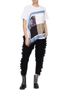 3.1 Phillip Lim Ruffle zip outseam knit sweatpants