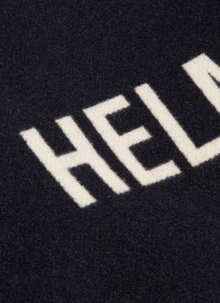- Helmut Lang - Logo jacquard wool melton shirt jacket