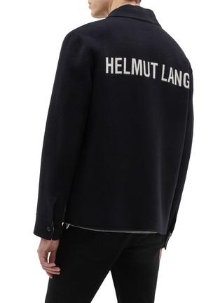 Back View - Click To Enlarge - Helmut Lang - Logo jacquard wool melton shirt jacket
