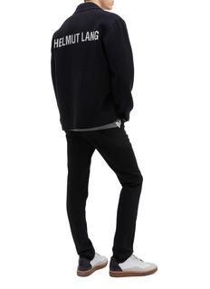 Helmut Lang Logo jacquard wool melton shirt jacket