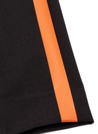 - Helmut Lang - Stripe outseam wool suiting pants
