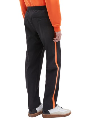 Back View - Click To Enlarge - Helmut Lang - Stripe outseam wool suiting pants