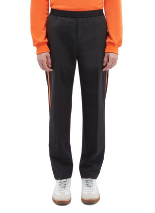 Main View - Click To Enlarge - Helmut Lang - Stripe outseam wool suiting pants