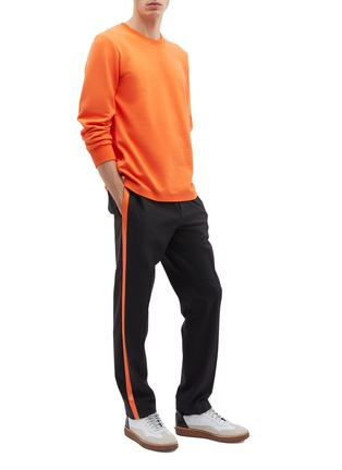 Figure View - Click To Enlarge - Helmut Lang - Stripe outseam wool suiting pants