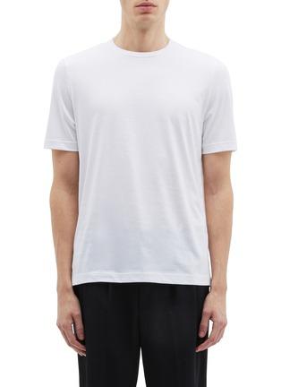 Main View - Click To Enlarge - Helmut Lang - 'Overlay' logo print layered back T-shirt