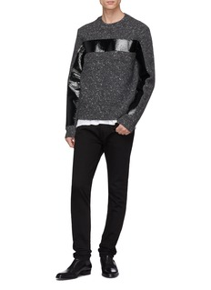 Helmut Lang Coated panel marled sweater