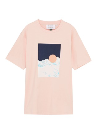 Main View - Click To Enlarge - Anna Beam - Graphic textured print unisex T-shirt