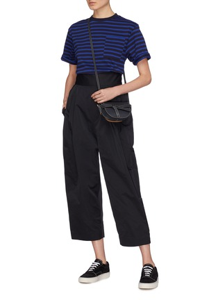 Detail View - Click To Enlarge - Anna Beam - Patch pocket stripe unisex T-shirt