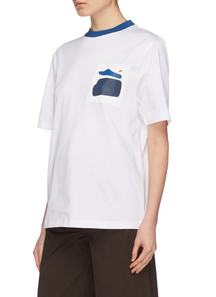 Front View - Click To Enlarge - Anna Beam - Graphic print patch pocket unisex T-shirt