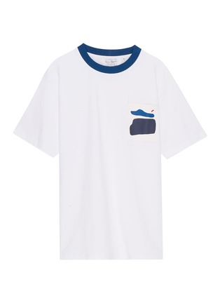 Main View - Click To Enlarge - Anna Beam - Graphic print patch pocket unisex T-shirt