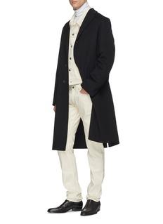 Helmut Lang 'Masc Lo Drainpipe' contrast topstitching slim fit jeans