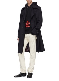 Helmut Lang 'In Lang We Trust' slogan print hoodie