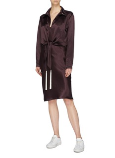 Collina Strada 'Log Out' knot front shirt