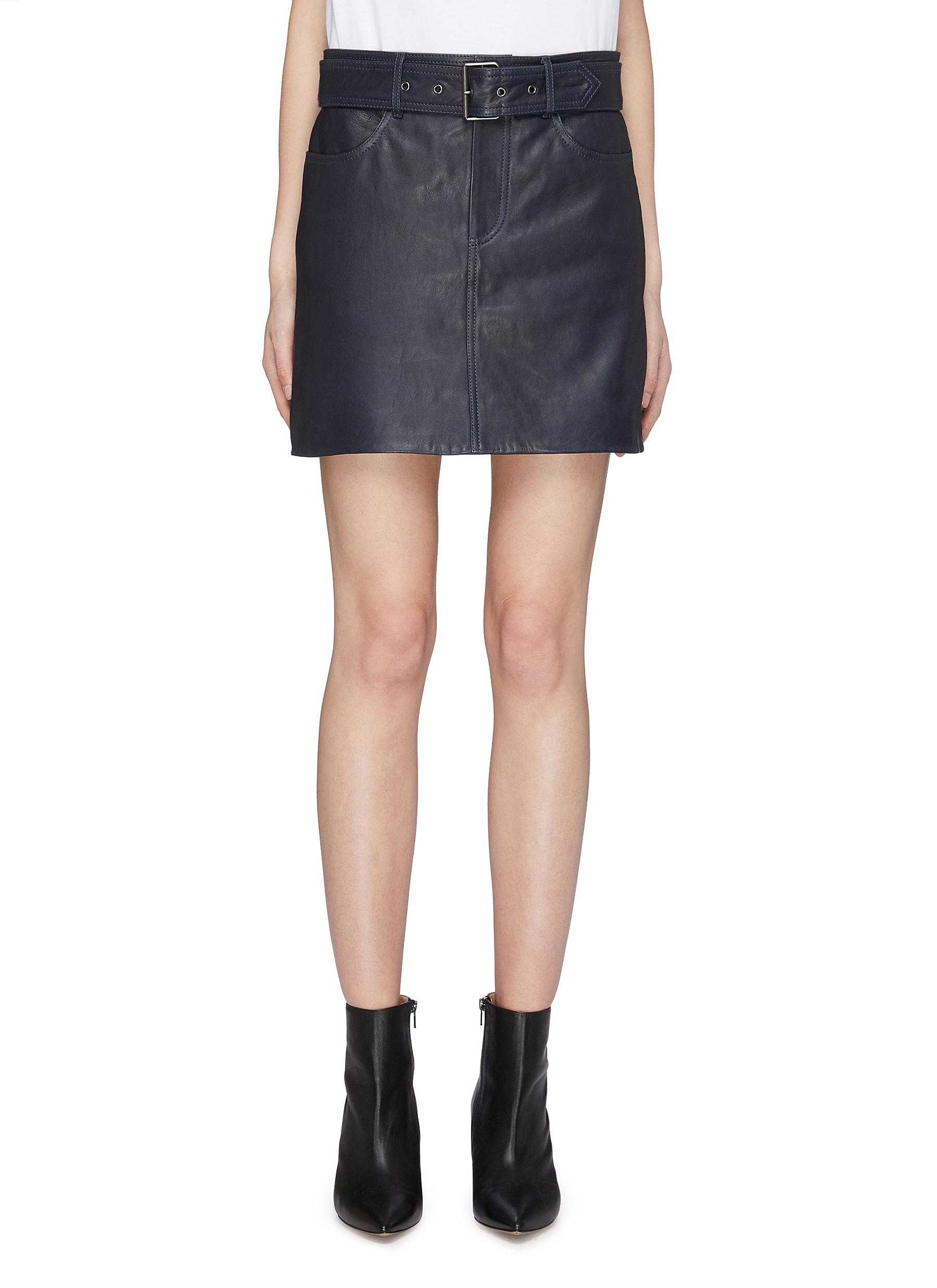 Buy Victoria, Victoria Beckham Skirts Belted leather mini skirt