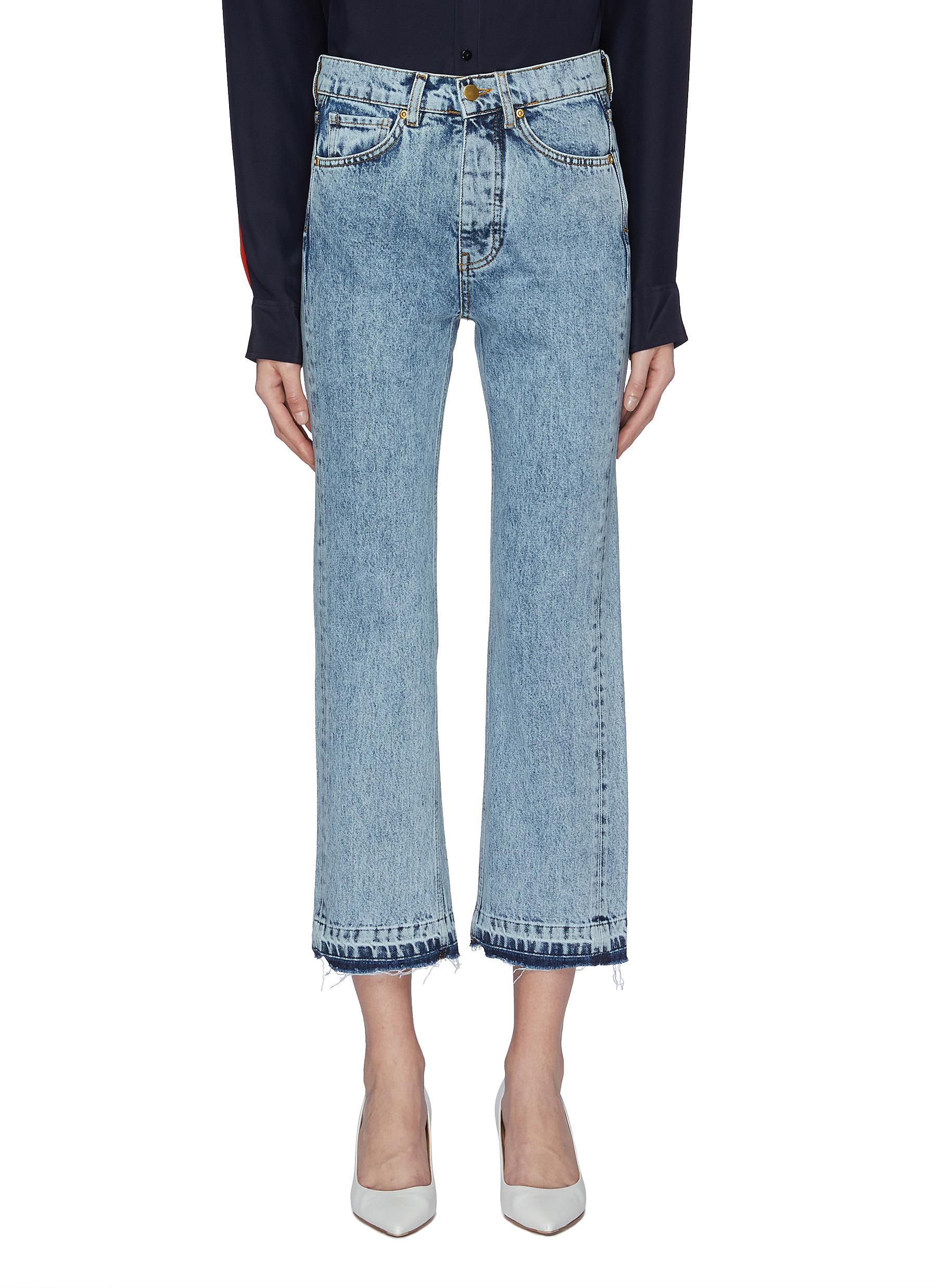 Super High Cali let-out cuff bleached jeans by Victoria, Victoria Beckham