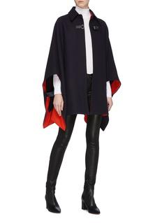 VICTORIA, VICTORIA BECKHAM Buckled oversized wool blend melton cape