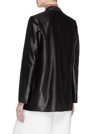 Back View - Click To Enlarge - VICTORIA, VICTORIA BECKHAM - Peaked lapel metallic blazer