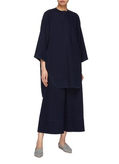 Ms MIN Washed denim culottes