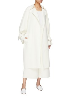 Ms MIN Belted cotton-silk trench coat