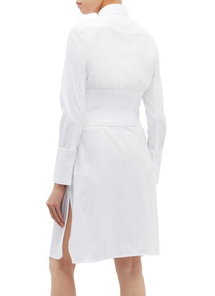 Back View - Click To Enlarge - Neil Barrett - Waist panel shirt dress