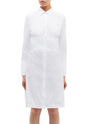 Main View - Click To Enlarge - Neil Barrett - Waist panel shirt dress