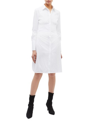 Figure View - Click To Enlarge - Neil Barrett - Waist panel shirt dress