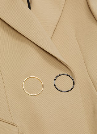 - PETAR PETROV - 'Jose' metal ring double breasted blazer