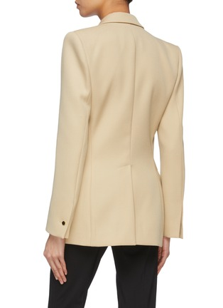 Back View - Click To Enlarge - PETAR PETROV - 'Jose' metal ring double breasted blazer