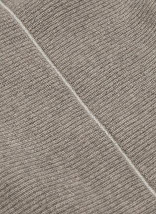 - PETAR PETROV - 'Kinga' contrast seam cashmere rib knit turtleneck sweater