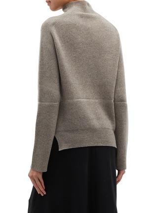 Back View - Click To Enlarge - PETAR PETROV - 'Kinga' contrast seam cashmere rib knit turtleneck sweater