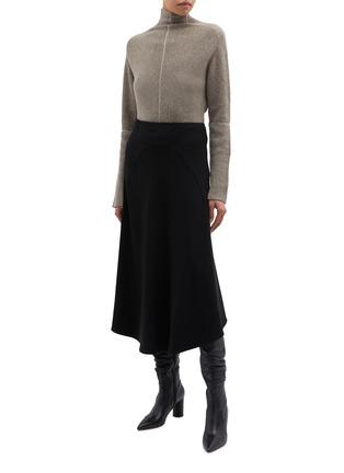 Figure View - Click To Enlarge - PETAR PETROV - 'Kinga' contrast seam cashmere rib knit turtleneck sweater